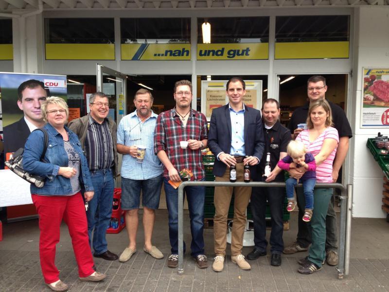 Straßenwahlkampf in Rodewald und Nienburg