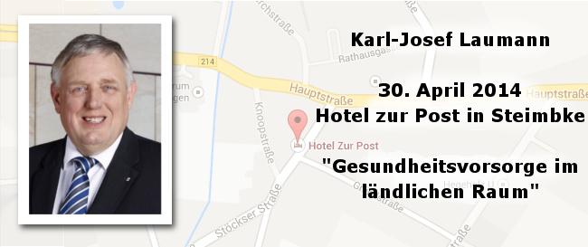 Einladung – Gesundheitsvorsorge im ländlichen Raum, Karl-Josef Laumann in Steimbke