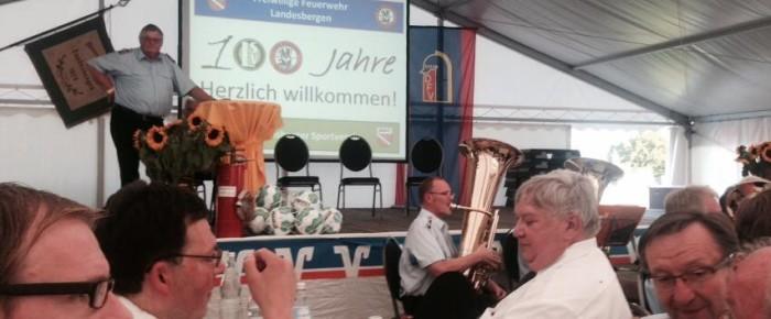 100 jähriges Bestehen des Sportverein und der Freiwilligen Feuerwehr Landesbergen
