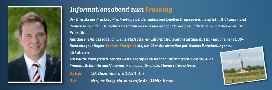 Fracking Einladung