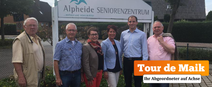 Tour de Maik: Seniorenzentrum Alpheide