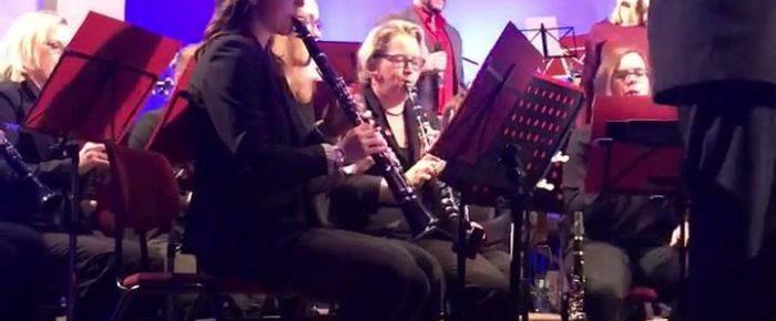 Klasse Jahreskonzert vom Blasorchester Krainhagen …