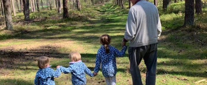 …bei uns im Wald, mit Opa Karl- Heinz, Moos für …